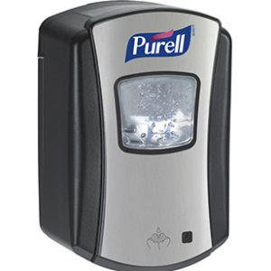 LTX-7 Distributeur sans contact de désinfectant Purell Chrome Brossé-Noir