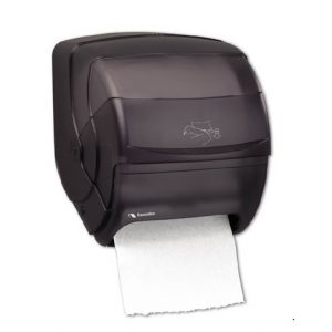 DH05 Cascades PRO Distributrice universelle Easy Out™ pour papier essuie-mains en rouleau, sans contact, Levier Frontal