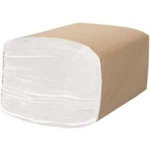 Papier essuie-mains en feuilles à Pli Simple Blanc