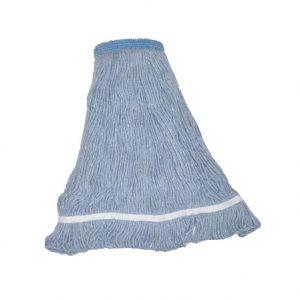 Vadrouille humide Bleu bande étroite bouclée pour laver les planchers