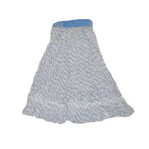 Vadrouille à cirer Bleue/Blanche, bouclée, à bande étroite