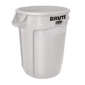 Poubelle ronde Blanche Brute 2620 de Rubbermaid