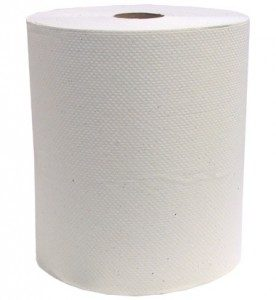 Papier Essuie-Mains en Rouleaux Jumbo Blanc 400 pi