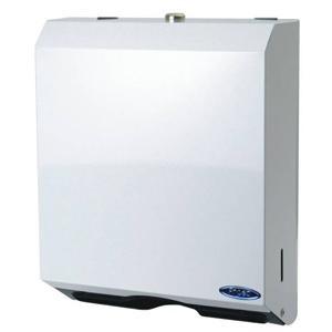 Distributrice de papier essuie-mains Plis Multiples, blanche