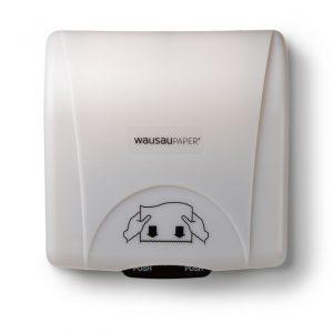 Distributeur d'essuie-mains OptiServ Accent® mains libres, blanc
