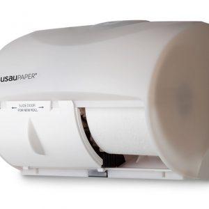 80260 DubleServ distributrice de papier hygiénique double horizontale Blanche