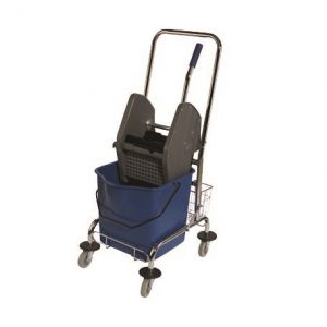 Seau/Essoreuse Combo avec chariot PERFORME 30 Litres Bleu.
