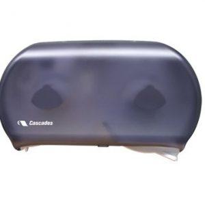 DB12 Cascades PRO Distributrice de papier hygiénique à deux rouleaux géants, 23 cm