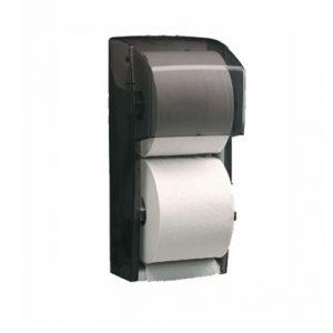 DB18 Cascades PRO Distributrice universelle de papier hygiénique à deux rouleaux standards.