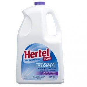 Hertel Plus Ultra Puissant Désinfectant + Dégraissant Agrumes et Lavande 4 Litres