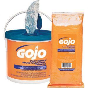 Gojo Lingettes essuie-mains Fast Wipes Industriel
