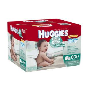 Lingettes pour bébé Huggies One & Done (emb. économique)