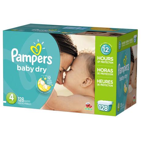 Couches pour bébé Pampers Baby Dry format Géant