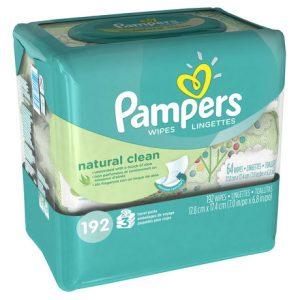Lingettes pour bébé Pampers Natural Clean