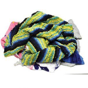 Guenilles/Chiffons Ratine de couleurs recyclée, non bordée