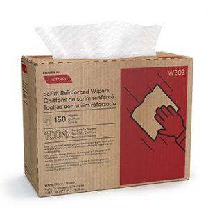 W202 Cascades PRO Tuff-Job Chiffons en gaze renforcée, entrepliés avec boîte distributrice 10/150