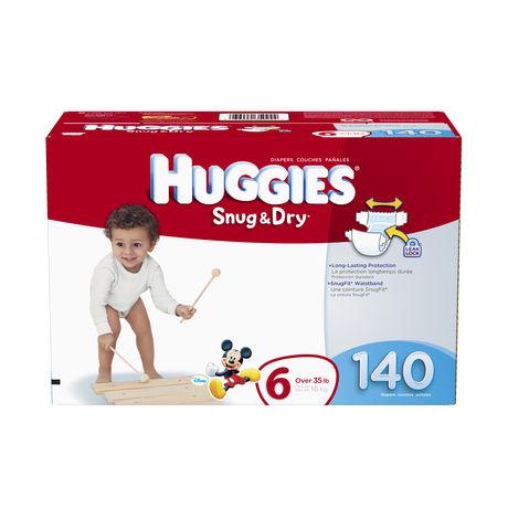 Couches Huggies Snug & Dry (emb. économique)