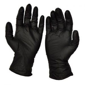 Gants nitrile-noir-sans-poudre Large
